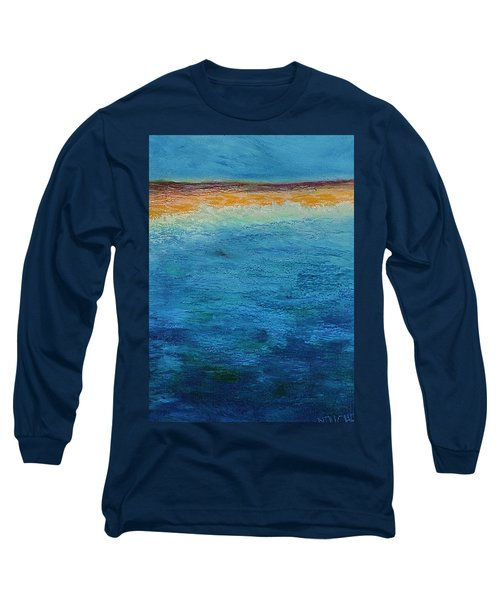 Long Sleeve T-Shirt featuring the painting Aguamarina by Norma Duch