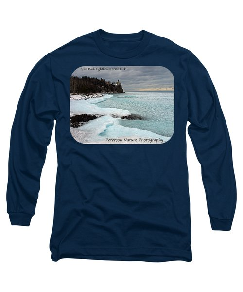 Aqua Ice At Split Rock Lighthouse Long Sleeve T-Shirt