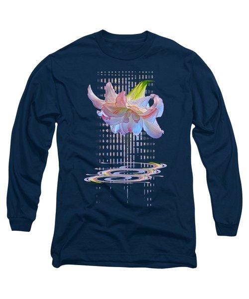 Curtain Of Dreams - Amaryllis Abstract Long Sleeve T-Shirt
