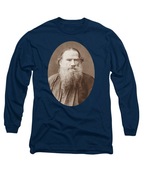 Leo Tolstoy Portrait - Circa 1883 Long Sleeve T-Shirt