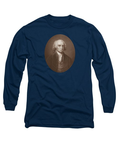 James Madison Engraved Portrait Long Sleeve T-Shirt