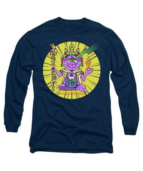 Long Sleeve T-Shirt featuring the digital art Zen by Sotuland Art