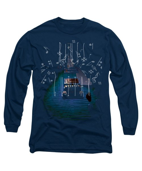 Blues Guitar Music Notes Long Sleeve T-Shirt