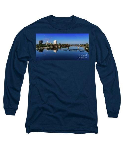 Augusta Ga Savannah River Panorama Long Sleeve T-Shirt