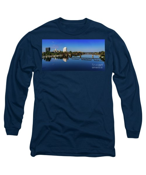 Augusta Ga Savannah River Panorama Long Sleeve T-Shirt