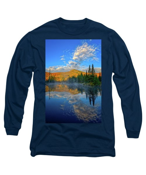 Autumn Sky, Mountain Pond Long Sleeve T-Shirt