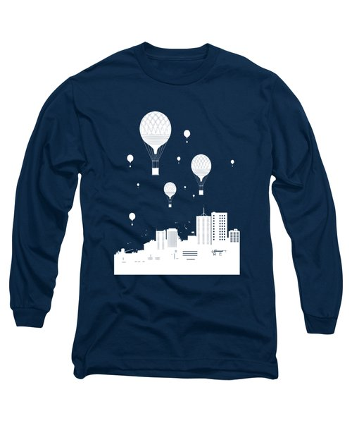 Balloons And The City Long Sleeve T-Shirt