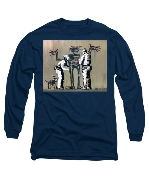 Banksy Coppers Pat Down Long Sleeve T-Shirt