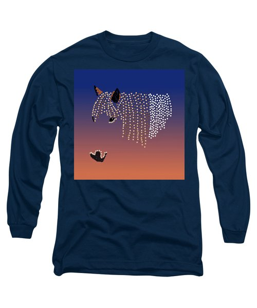 Bedazzled Horse's Mane Long Sleeve T-Shirt