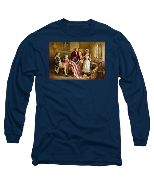 Betsy Ross And General George Washington Long Sleeve T-Shirt