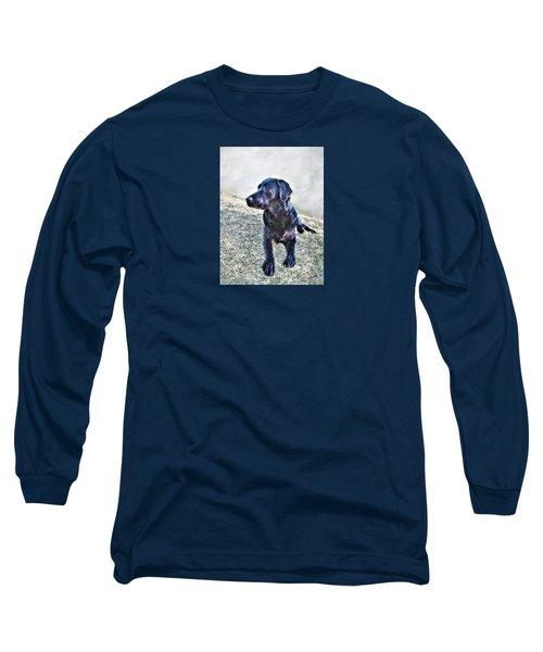 Black Labrador Retriever - Daisy Long Sleeve T-Shirt