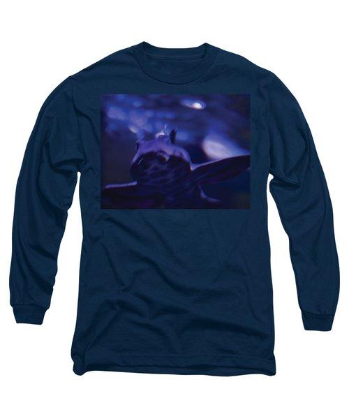 Blue Greeting Long Sleeve T-Shirt