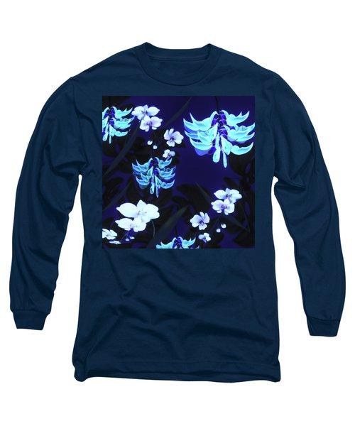 Blue Jungle Floral Long Sleeve T-Shirt
