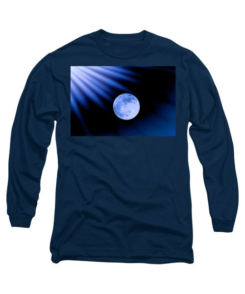 Blue Rays On The Moon Long Sleeve T-Shirt