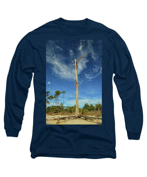 Blue Skies And Broken Branches Long Sleeve T-Shirt