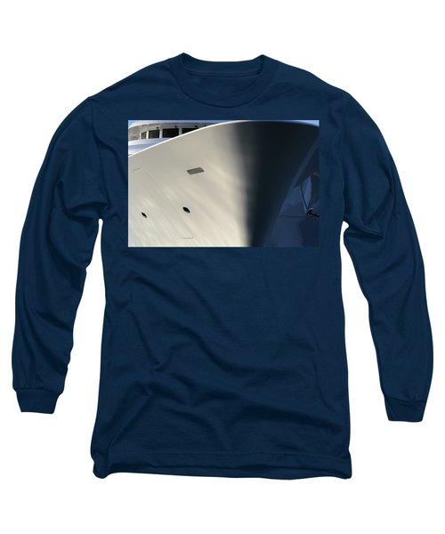 Bow Of Mega Yacht Long Sleeve T-Shirt