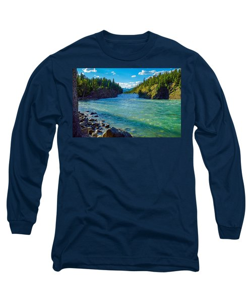 Bow River In Banff Long Sleeve T-Shirt