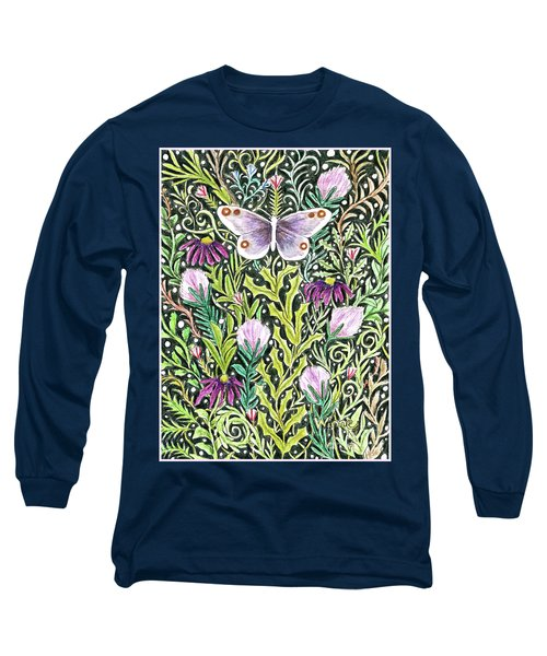 Butterfly Tapestry Design Long Sleeve T-Shirt