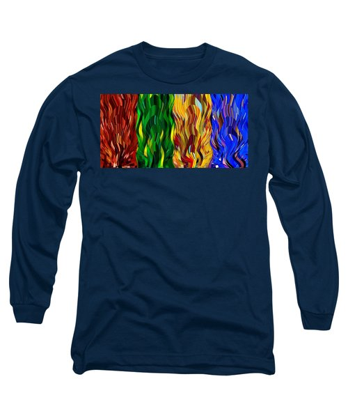 Colored Fire Long Sleeve T-Shirt