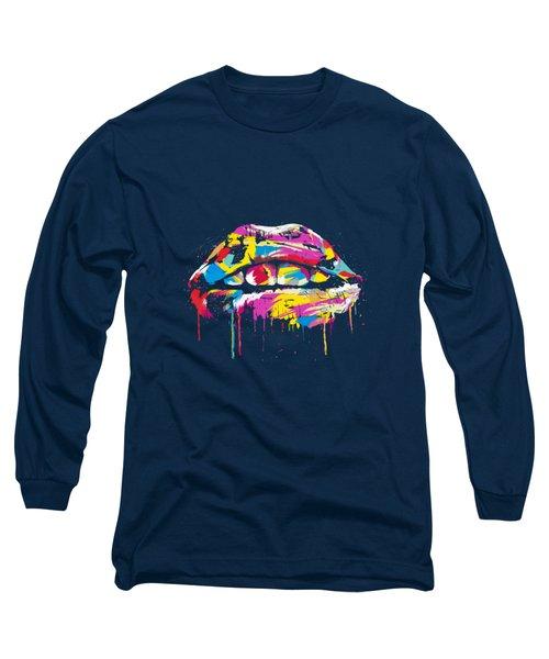 Colorful Lips Long Sleeve T-Shirt