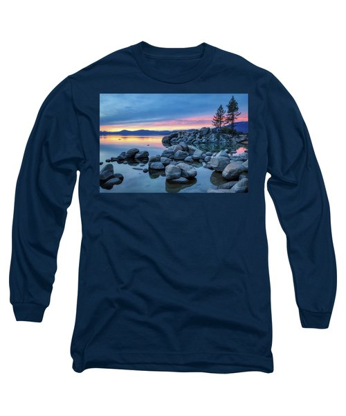 Colorful Sunset At Sand Harbor Long Sleeve T-Shirt