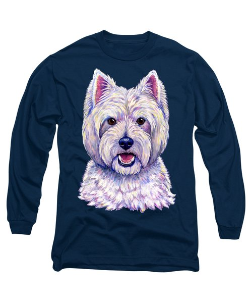 Colorful West Highland White Terrier Dog Long Sleeve T-Shirt