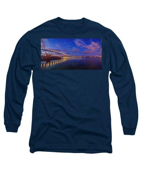 Coronado Bridge Sunrise - Panorama Long Sleeve T-Shirt