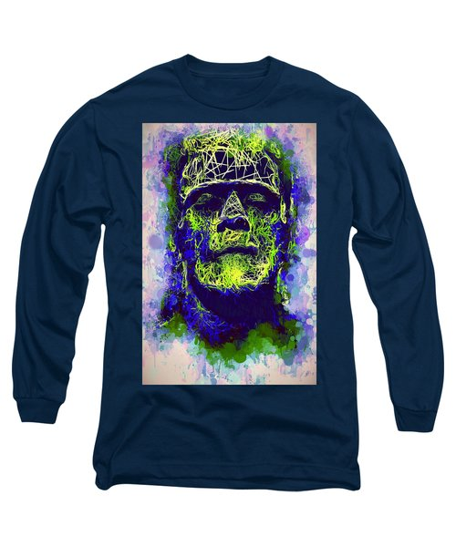 Frankenstein Watercolor Long Sleeve T-Shirt