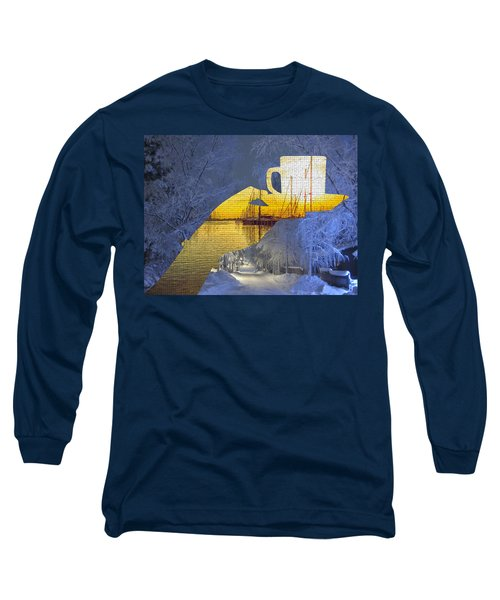 Cup Of Tea In The Winter Evening Long Sleeve T-Shirt