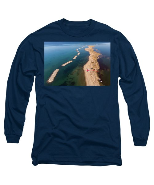Dashed Line Long Sleeve T-Shirt
