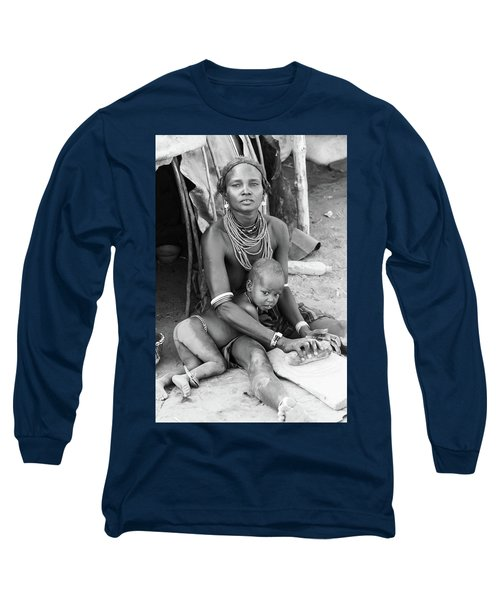 Dassanech Mother And Child Long Sleeve T-Shirt