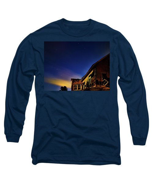 Decaying House In The Moonlight Long Sleeve T-Shirt
