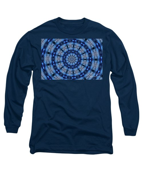 Blue Jay Mandala Long Sleeve T-Shirt