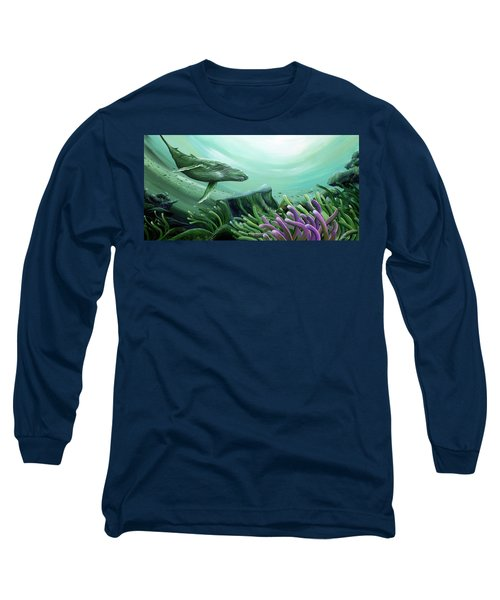 Long Sleeve T-Shirt featuring the pastel Down Under by William Love