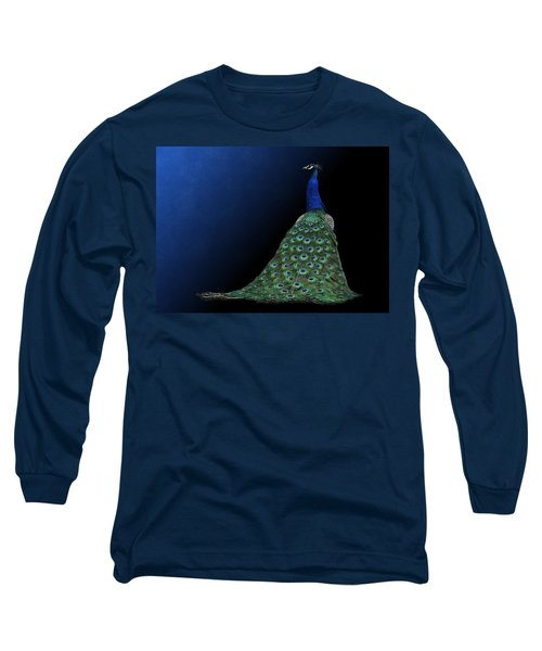 Dressed To Party - Male Peacock Long Sleeve T-Shirt