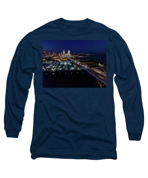 Long Sleeve T-Shirt featuring the photograph Gateway To Milwaukee by Randy Scherkenbach