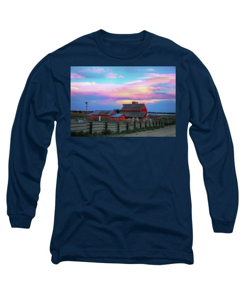 Long Sleeve T-Shirt featuring the photograph Ghost Horses Pastel Sky Timed Stack by James BO Insogna
