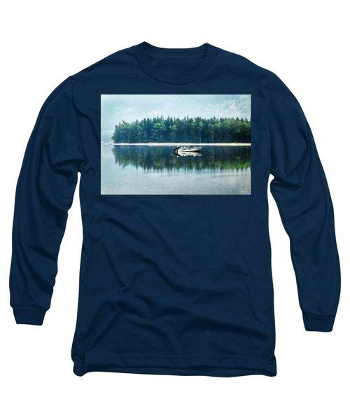 Glacier National Park Lake Reflections Long Sleeve T-Shirt
