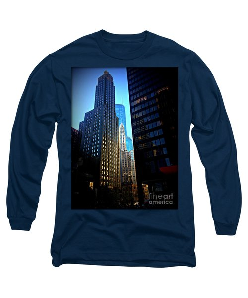 Golden Hour Reflections - City Of Chicago Long Sleeve T-Shirt