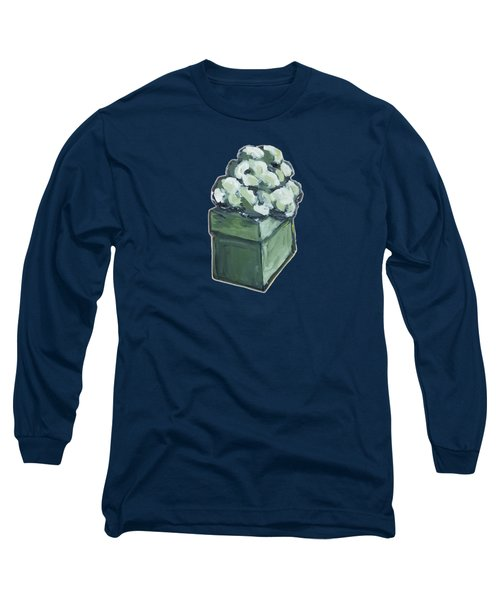 Long Sleeve T-Shirt featuring the painting Green Present by Maria Langgle