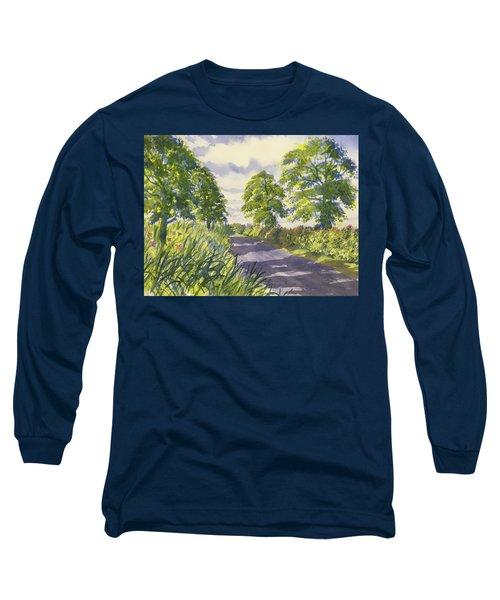 Hedgerows On Rudston Road Long Sleeve T-Shirt
