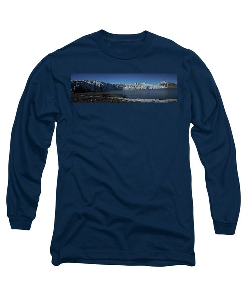 In Front Of A Glacier On Svalbard Long Sleeve T-Shirt