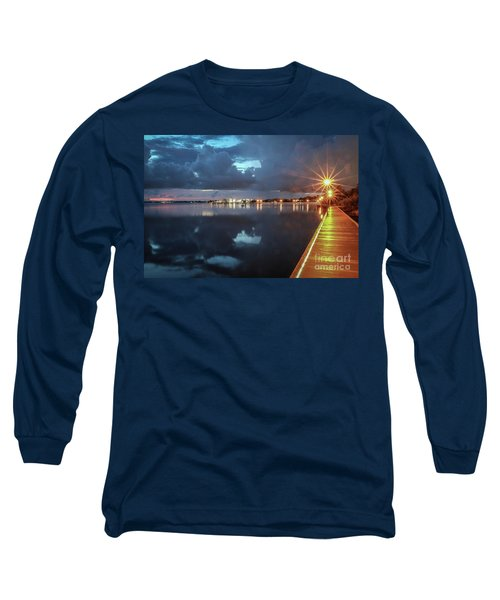 Lamp Post Starbursts Long Sleeve T-Shirt