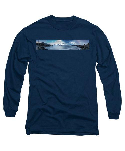 Landscape In The Lofoten Islands Long Sleeve T-Shirt