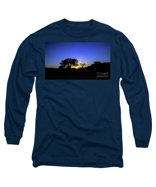Last Light Texas Hill Country Paradise Canyon Sunset 8053a Long Sleeve T-Shirt