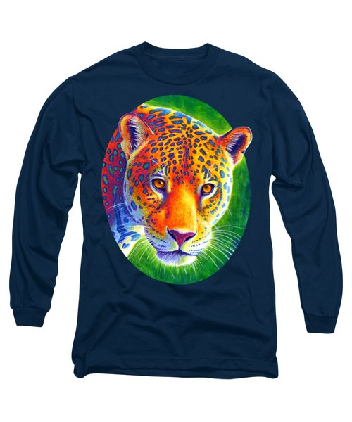 Light In The Rainforest - Jaguar Long Sleeve T-Shirt