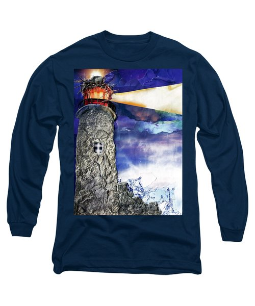 Light Of The World Torn Paper Collage Long Sleeve T-Shirt