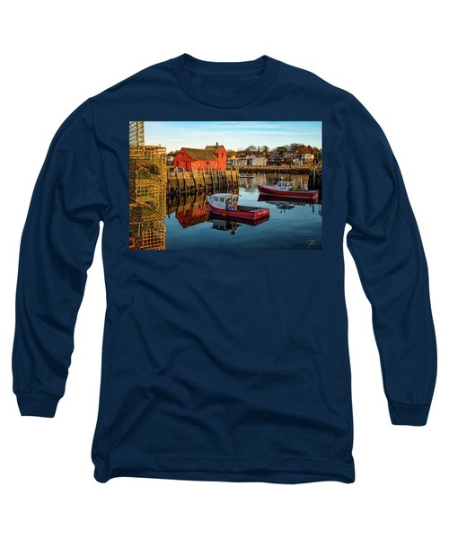 Lobster Traps, Lobster Boats, And Motif #1 Long Sleeve T-Shirt