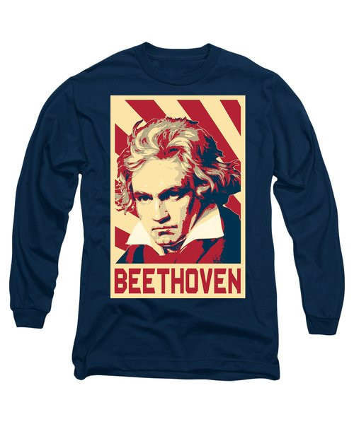 Ludwig Van Beethoven Retro Propaganda Long Sleeve T-Shirt