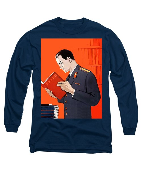 Man Is Reading Lenin Books Long Sleeve T-Shirt